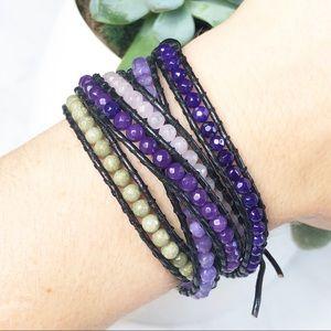 Victoria Emerson Wrap Bracelet Purple Green